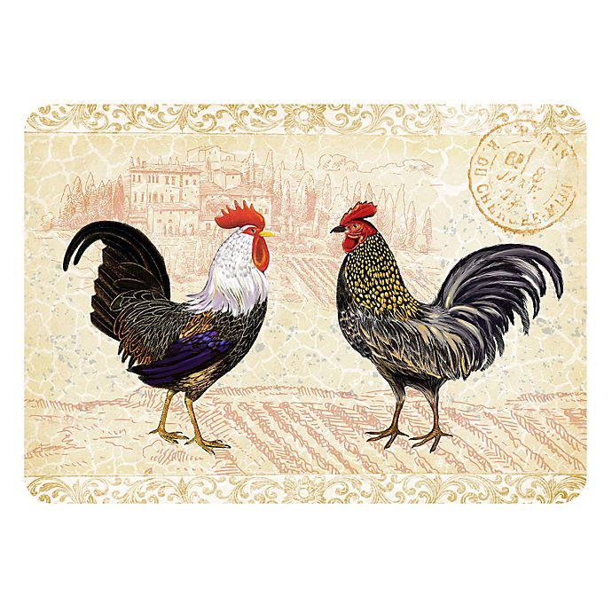 Alternate image 1 for The Softer Side by Weather Guard™ 23-Inch x 26-Inch Rooster Provence Kitchen Mat