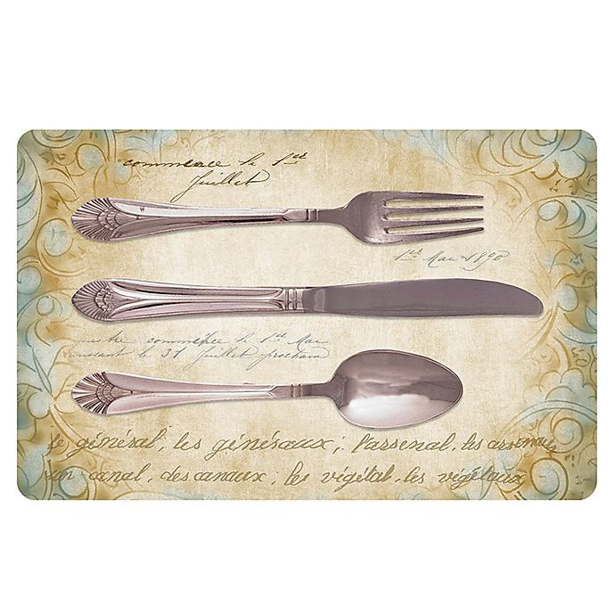 Alternate image 1 for The Softer Side by Weather Guard™ 18-Inch x 27-Inch Royal Silverware Kitchen Mat