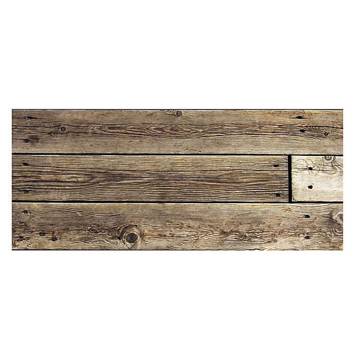 Alternate image 1 for The Softer Side by Weather Guard™ 25-Inch x 60-Inch Rustic Wood Kitchen Mat