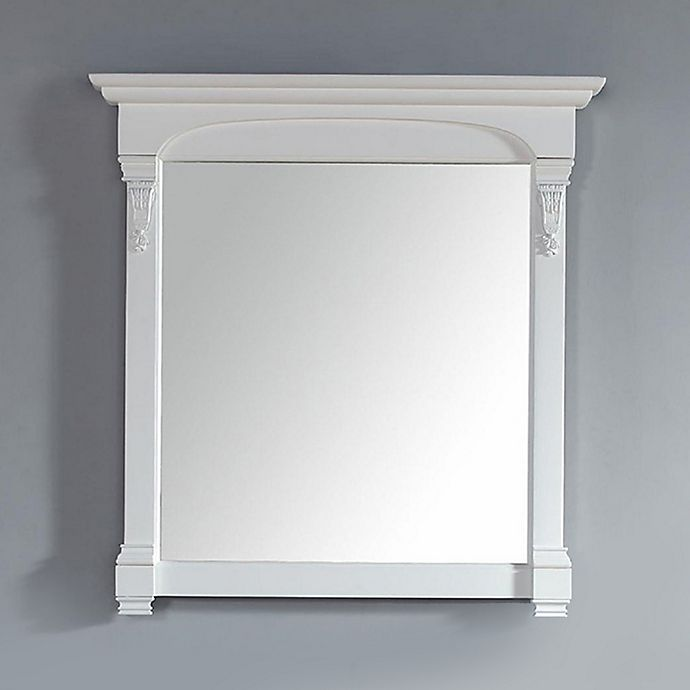 Alternate image 1 for James Martin Furniture Brookfield 39.5-Inch Mirror in Cottage White