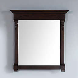 James Martin Furniture Brookfield 39.5-Inch Mirror in Burnished Mahogany