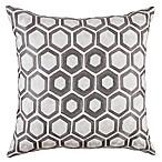 Callisto Home Octagon Bead Throw Pillow in Crème/Grey
