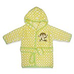 Neat Solutions® Happy Monkey Hooded Bathrobe in Yellow