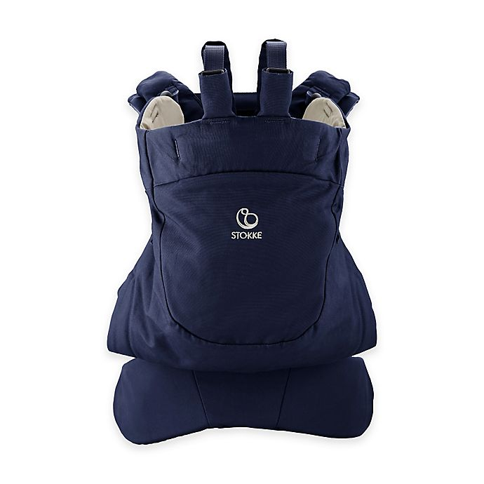 Alternate image 1 for Stokke® MyCarrier™ Front Baby Carrier in Deep Blue