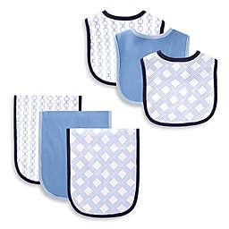 BabyVision® Hudson Baby® 6-Piece Links Bib and Burp Cloth Set