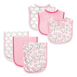 BabyVision® Hudson Baby® 6-Piece Flower Bib and Burp Cloth Set