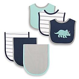 BabyVision® Hudson Baby® 6-Piece Dinosaur Bib and Burp Cloth Set