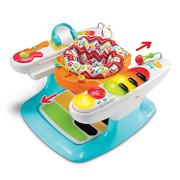Alternate image 1 for Fisher-Price® Entertainer 4-in-1 Step 'n Play Piano Activity Seat