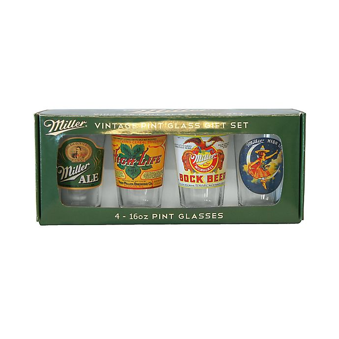 Alternate image 1 for Miller Retro 16-Ounce Variety Pub Set, 4 Pieces