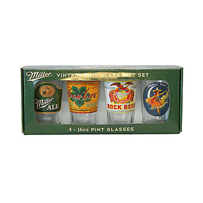 Miller Retro 16-Ounce Variety Pub Set, 4 Pieces