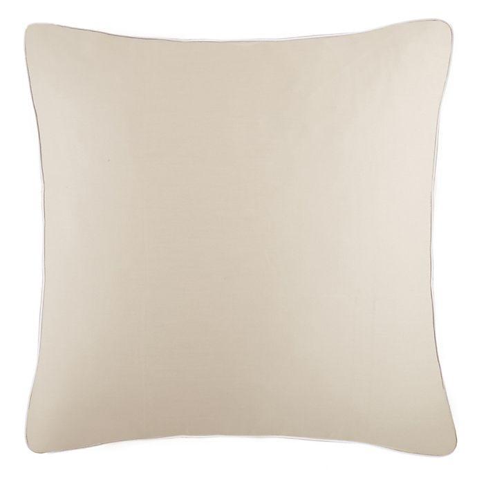 Alternate image 1 for Frette At Home Post Modern European Pillow Sham in Stone/White