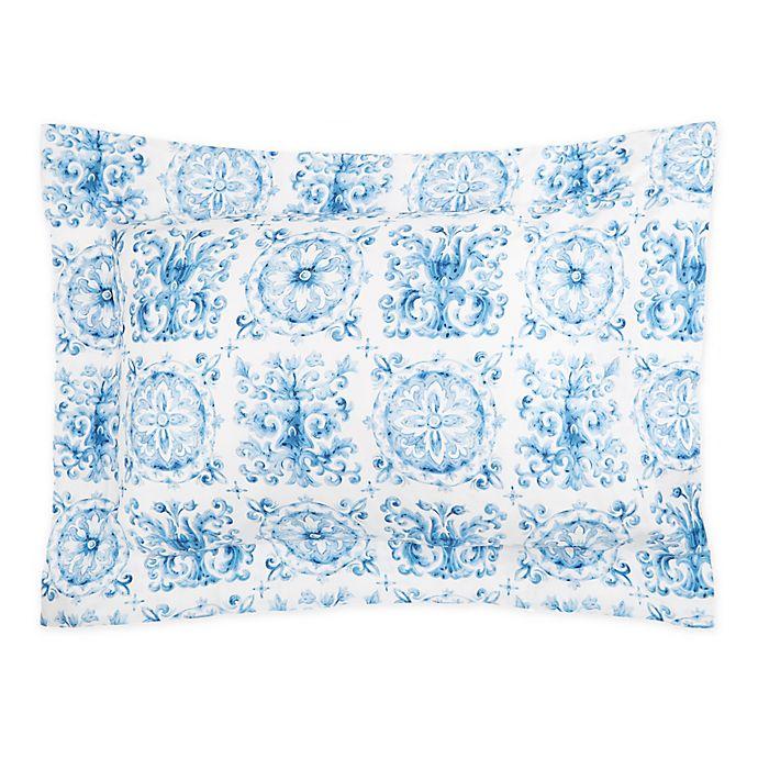 Alternate image 1 for Frette At Home Azulejo King Pillow Sham in Blue