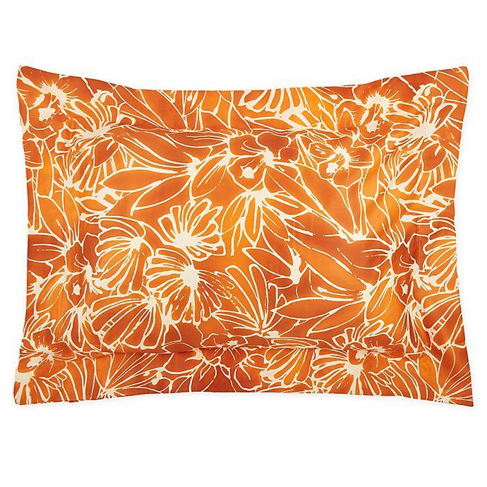 Alternate image 1 for Frette At Home Toscana King Pillow Sham in Pumpkin