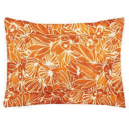 Frette At Home Toscana King Pillow Sham in Pumpkin