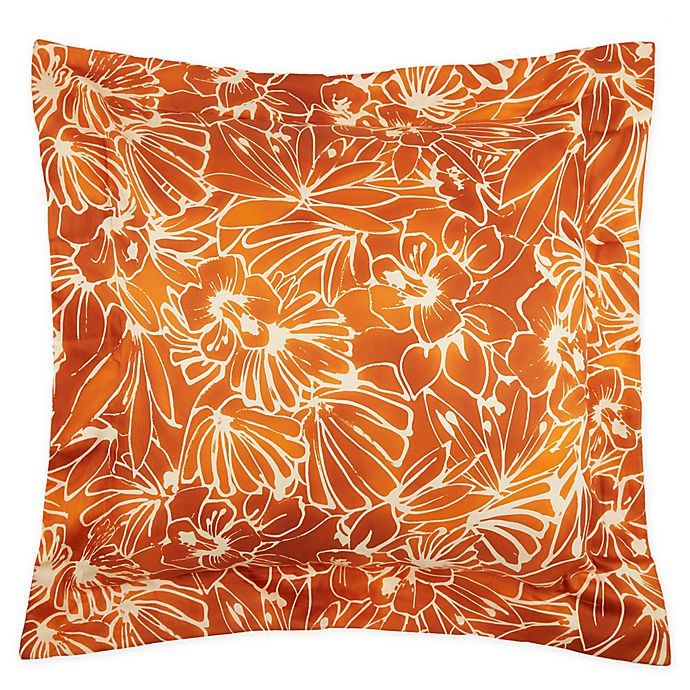 Alternate image 1 for Frette At Home Toscana European Pillow Sham in Pumpkin