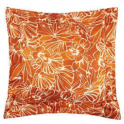 Frette At Home Toscana European Pillow Sham in Pumpkin