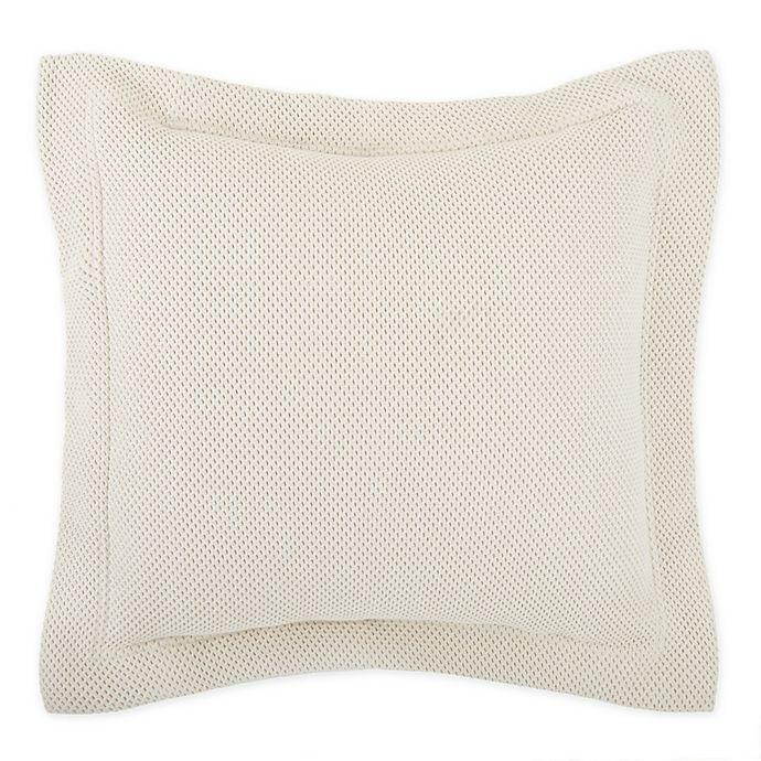Alternate image 1 for Frette At Home Porfido European Pillow Sham in Stone