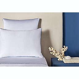 Frette At Home Modern 280-Thread Count Standard Pillowcase in White/Blue