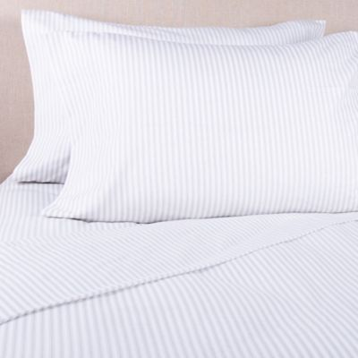 Bee Willow Home Bee Willow Home Striped Flannel Standard Pillowcase In Ivory Grey From Bed Bath Beyond Canada Shefinds