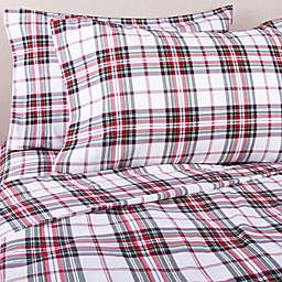 Bee & Willow™ Home Tartan Flannel California King Sheet Set in Ivory Plaid