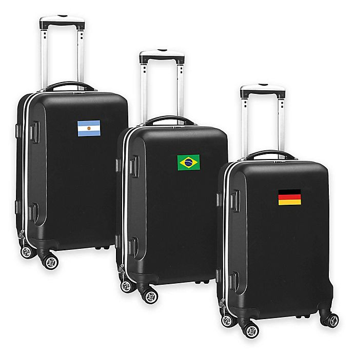 Alternate image 1 for Denco Mojo Flag 21-Inch Hardside Carry-On Spinner Luggage Collection