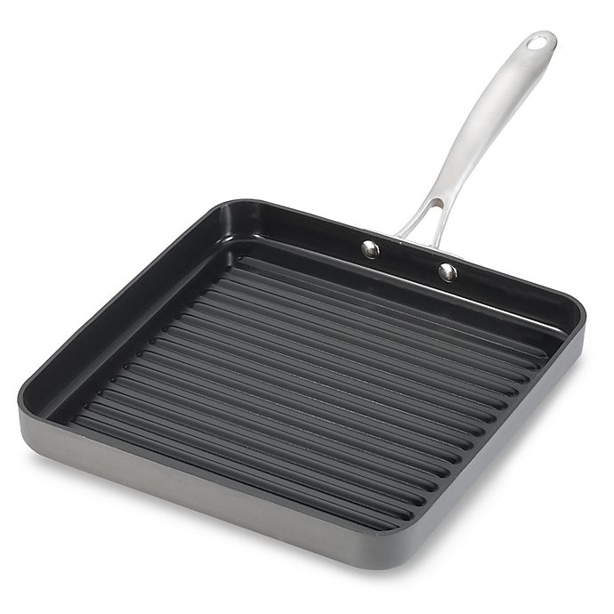 Alternate image 1 for Cuisinart® Nonstick Hard Anodized Green Gourmet 11-Inch Grill