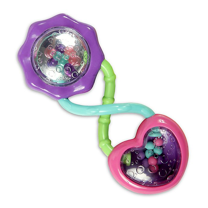 Alternate image 1 for Bright Starts™ Pretty In Pink™ Rattle and Shake Barbell™