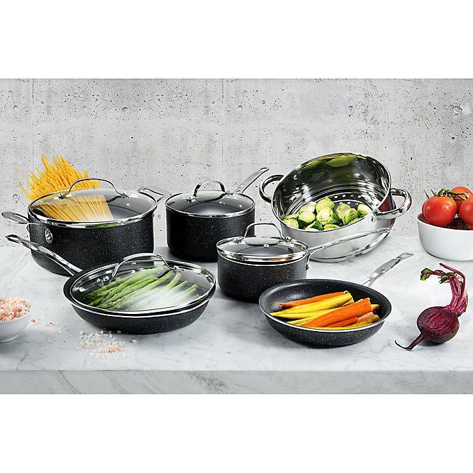 Alternate image 1 for Granitestone Diamond Titanium Nonstick Aluminum Cookware Collection in Black