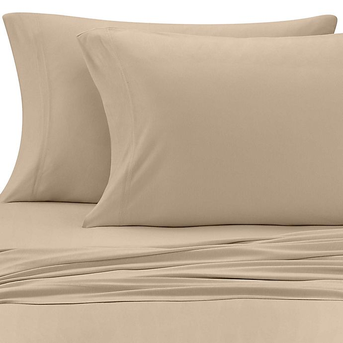Alternate image 1 for Pure Beech® Jersey Knit Modal Twin Sheet Set in Taupe