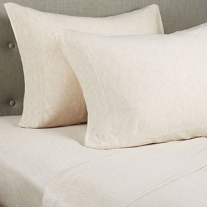 Alternate image 1 for Pure Beech® Jersey Knit Modal Twin XL Sheet Set in Oatmeal