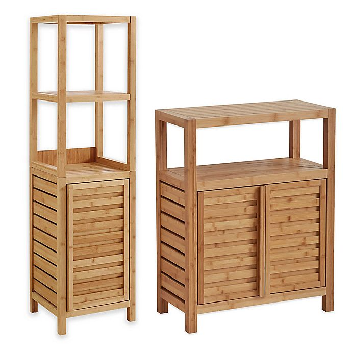 Alternate image 1 for Haven™ No Tools Bamboo Bathroom Furniture Collection