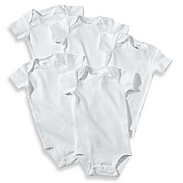 carter's® 5-Pack Newborn White Short Sleeve Bodysuits