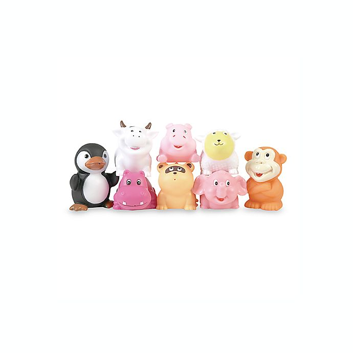 Alternate image 1 for Elegant Baby® 8-Pack Animal Party Bath Squirties