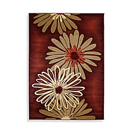 Dahlia 5-Foot 3-Inch x 7-Foot 6-Inch Room Size Area Rug in Terracotta