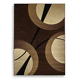 Zaga Scatter 1'8 x 2'8 Accent Rug in Brown/Cream