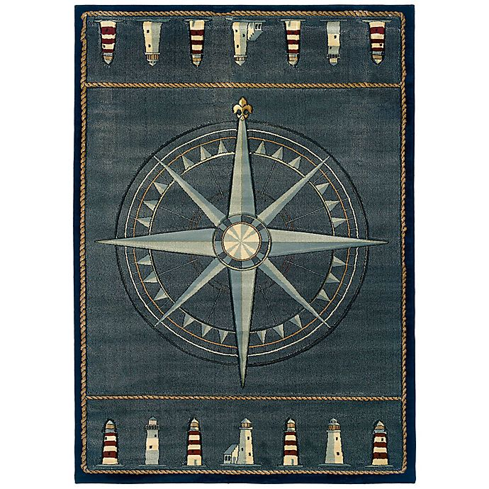 Alternate image 1 for United Weavers Compass Rose 7'10 x 10'6 Area Rug in Smoke Blue