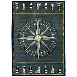 United Weavers Compass Rose 7'10 x 10'6 Area Rug in Smoke Blue