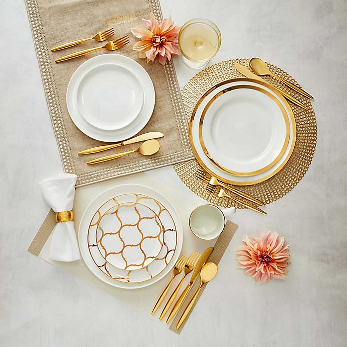 Alternate image 1 for Nevaeh White® by Fitz and Floyd® Gold Entertainment Dinnerware Collection