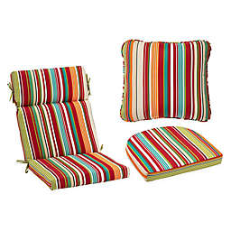 Stripe Outdoor Cushion and Throw Pillow Collection
