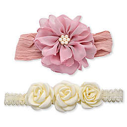 Khristie® 2-Pack Floral and Pearl Headbands