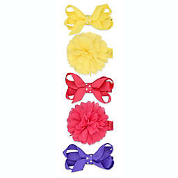 Khristie® 5-Pack Bow & Flower Hair Clips