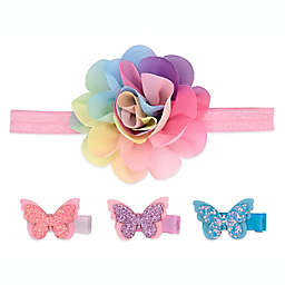 Khristie® 4-Pack Rainbow Headband and Butterfly Hair Clips