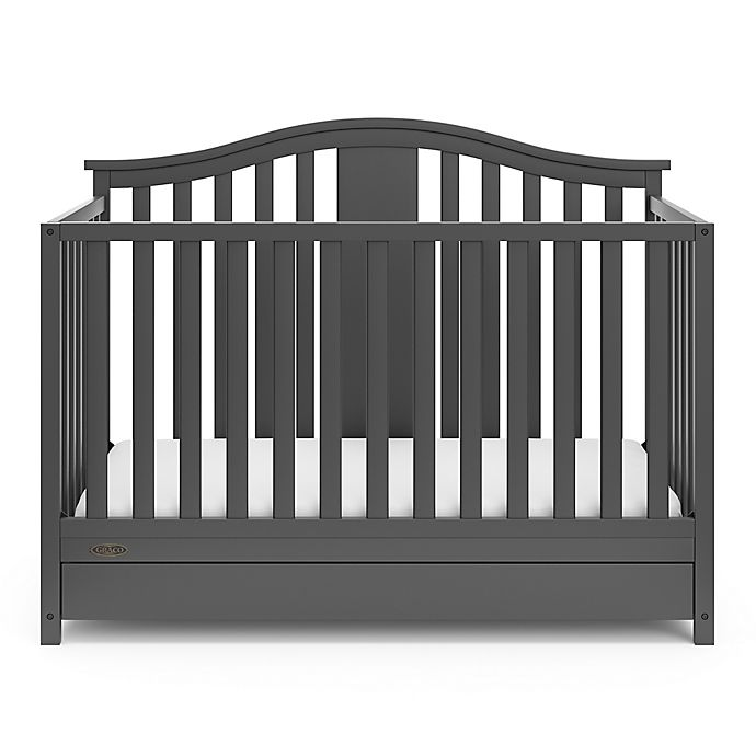 Alternate image 1 for Graco® Solano 4-in-1 Convertible Crib with Drawer in Grey