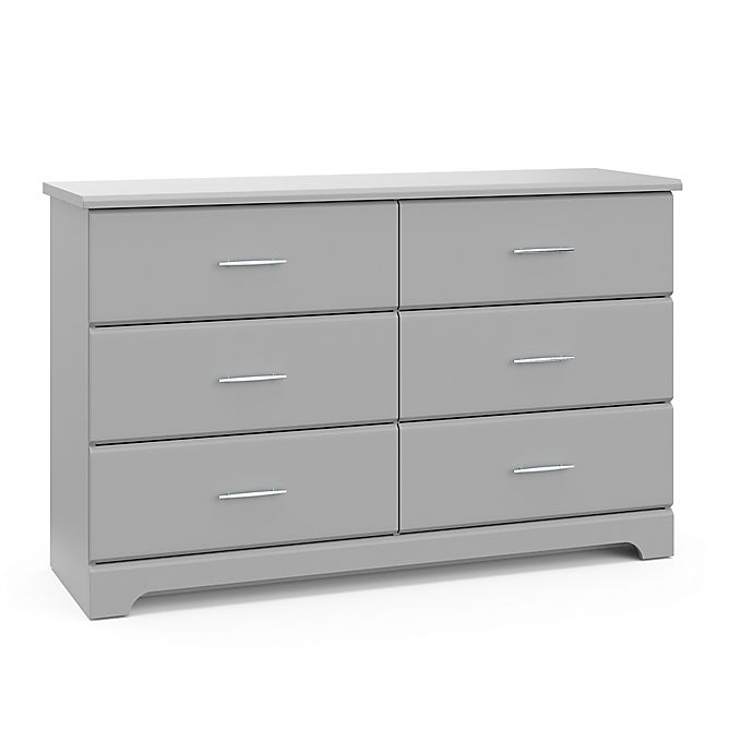 Alternate image 1 for Storkcraft Brookside 6 Drawer Dresser-PebbleGray