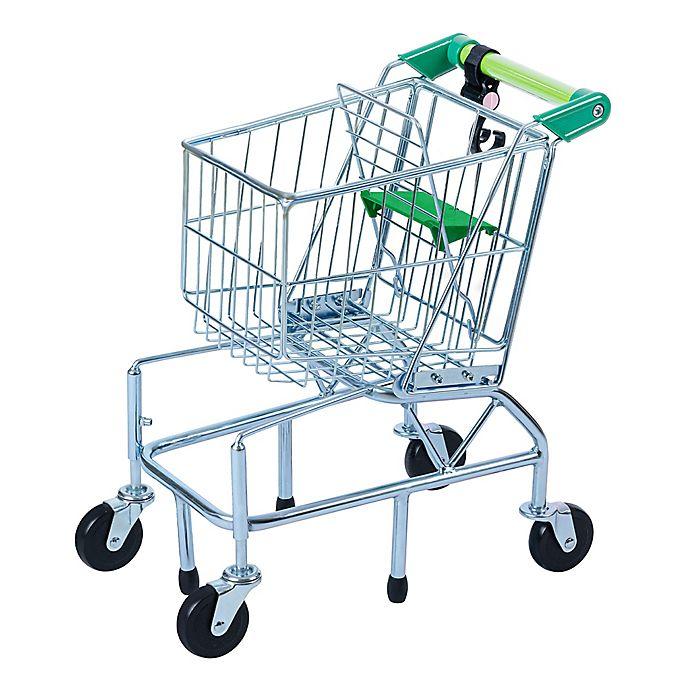 Alternate image 1 for Teamson Kids® Supermarket Happy Shopping Cart in Green