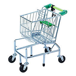 Teamson Kids® Supermarket Happy Shopping Cart in Green