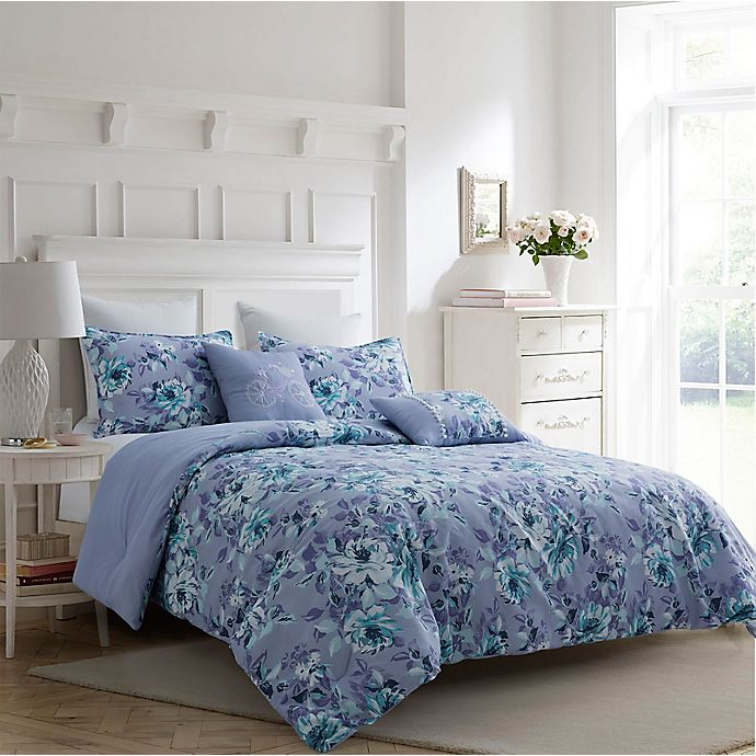 Alternate image 1 for Carole Hochman Winter Floral 5-Piece Comforter Set