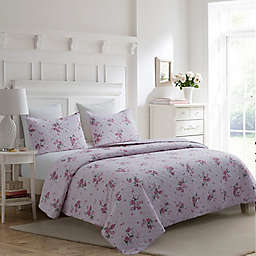 Carole Hochman Daniella 3-Piece Reversible Full/Queen Quilt Set in Pink Multi