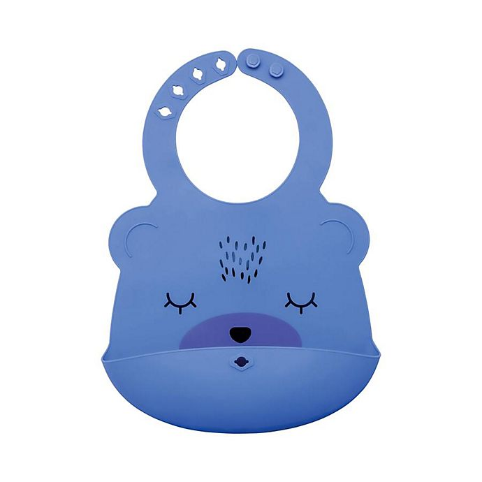 Alternate image 1 for Tiny Twinkle® Silicone Bear Bib
