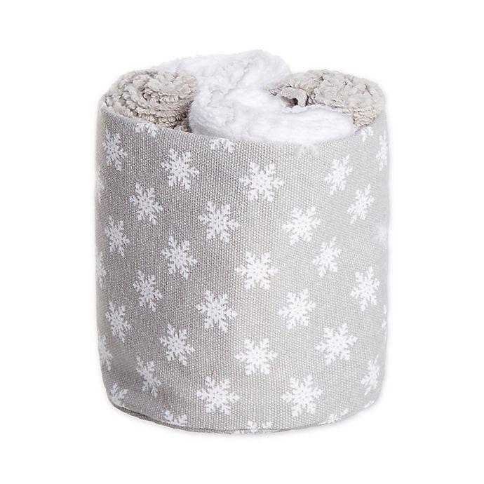 Alternate image 1 for Winter Wonderland Ice Crystals 4-Piece Wash Towel Set